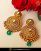 Antique Gold Finished Emerald Pearl Earrings | Punjabi Traditional Jewellery Exclusive