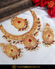 Antique Gold Finished Rubby Pearl Necklace Set | Punjabi Traditional Jewellery Exclusive