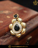 Gold Finished Black Kundan Ring | Punjabi Traditional Jewellery Exclusive
