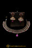 Pink Polki Necklace Set By Punjabi Traditional Jewellery