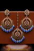 Firozi Champagne Stone Earring Tikka Set By Punjabi Traditional Jewellery