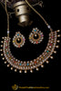Multi Polki Pearl Necklace Set By Punjabi Taditional Jewellery