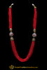Red Mala Necklace Set By Punjabi Traditional Jewellery