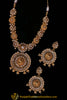 Ikhtiyaar White & Golden Polki Necklace Set By Punjabi Traditional Jewellery