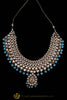 Firozi Pearl Kundan Necklace Set By  Punjabi Traditional Jewellery