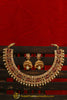 Red Champagne Stone Pearl Necklace Set By Punjabi Traditional Jewellery