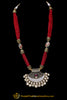Red Kundan Meena Necklace Set By Punjabi Taditional Jewellery