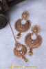 Antique Gold Polki Earring Tikka Set By Punjabi Traditional Jewellery