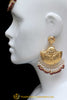 Maroon Earring Tikka Set By Punjabi Traditional Jewellery