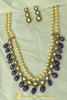 Blue Kundan Mala Necklace Set By Punjabi Traditional Jewellery
