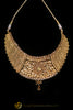 Golden Choker Antique Gold Necklace Set By Punjabi Traditional Jewellery
