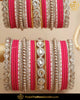 Hot Pink Silver (For Both Hands) Bangles Set | Punjabi Traditional Jewellery Exclusive
