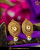 Antique Gold Finished Stud Pearl Earrings | Punjabi Traditional Jewellery Exclusive