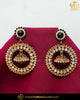 Gold Finished Black Jerkan Pearl Earrings | Punjabi Traditional Jewellery Exclusive