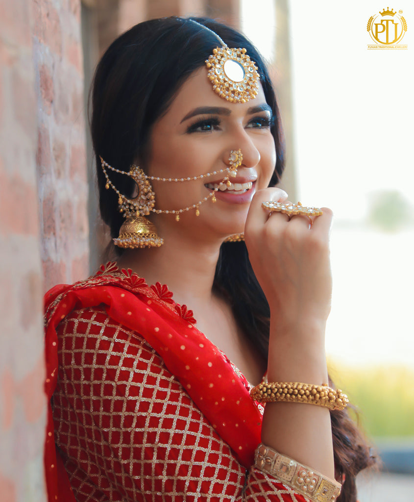 Ad'ifaah Kundan Nath  | Rawayat by Punjabi Traditional Jewellery