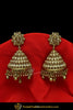 Gold Finished Jhumki Champagne Stone Earrings | Punjabi Traditional Jewellery Exclusive