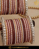 Pink Teal Brown Silver Jerkan (For Both Hands) Bangles Set | Punjabi Traditional Jewellery Exclusive