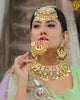 Gold Finished Pippal Patti Kundan Nath | Rawayat by Punjabi Traditional Jewellery