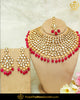Rubby Kundan Necklace Set By Punjabi Taditional Jewellery