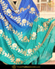 Blue Shade Satrangi Color Phulkari | Punjabi Traditional Jewellery Exclusive