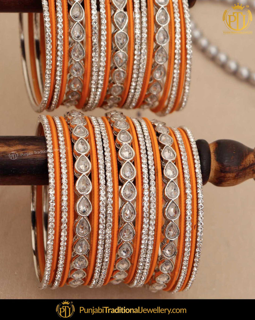 Mango Yellow (For Both Hands) Bangles Set | Punjabi Traditional Jewellery Exclusive
