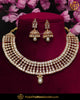 Gold Finished Polki Stone Pearl Necklace Set | Punjabi Traditional Jewellery Exclusive