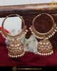 Gold Finished Champagne Stone Pearl Jhumki Baali Earrings | Punjabi Traditional Jewellery Exclusive