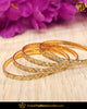 Gold Finished Karra Bangles (Pair)| Punjabi Traditional Jewellery Exclusive