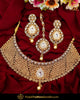 Antique Gold Finished Champagne Stone Johda Necklace Set  | Punjabi Traditional Jewellery Exclusive
