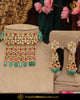 Gold Finished Kundan Pearl Green Rubby Choker Necklace Set | Punjabi Traditional Jewellery Exclusive