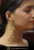 Gold Finished Pearl Kundan Earrings | Punjabi Traditional Jewellery Exclusive