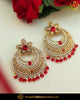 Gold Finished Rubby Jerkan Pearl Earrings | Punjabi Traditional Jewellery Exclusive