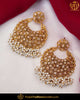 Gold Finished Pearl Polki Stone Earrings | Punjabi Traditional Jewellery Exclusive