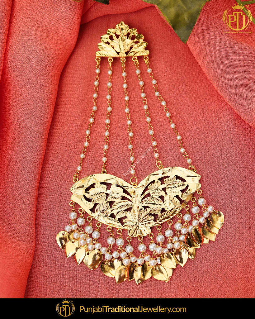 Gold Finished Pearl Pippal Patti Patra Passa | Punjabi Traditional Jewellery Exclusive