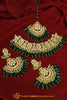 Daaniya Emerald Kundan Choker & Earring Set | Punjabi Traditional Jewellery Exclusive