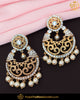 Gold Finished Pearl Jerkan Earrings | Punjabi Traditional Jewellery Exclusive
