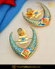 Hand Painted Meena Blue Earrings| Punjabi Traditional Jewellery Exclusive