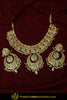 Jannat Gold Finished Navratan Jadau Necklace & Earrings | Punjabi Traditional Jewellery Exclusive