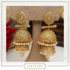 Jahanara Antique Gold Double Jhumki Earrings | Punjabi Traditional Jewellery