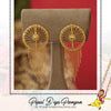 Gold Finished Stud Earrings | Pipal Diya Peengan by Punjabi Traditional Jewellery Exclusive