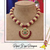 Gold Finished Pearl Pippal Patti kaintha | Pipal Diya Peengan by Punjabi Traditional Jewellery Exclusive