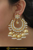 Aniya Gold Finished Kundan ChandBalli Earrings | Punjabi Traditional Jewellery Exclusive