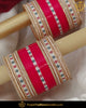 Dotted Red Pearl Bridal Traditional Chura | Punjabi Traditional Jewellery Exclusive