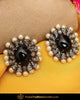 Gold Finished Black Stone Pearl Stud Earrings | Punjabi Traditional Jewellery Exclusive