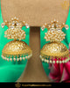 Gold Finished Kundan Pearl Jhumki Earrings | Punjabi Traditional Jewellery Exclusive