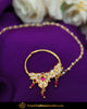 Gold Finished Purple Kundan Pearl Nath | Punjabi Traditional Jewellery Exclusive