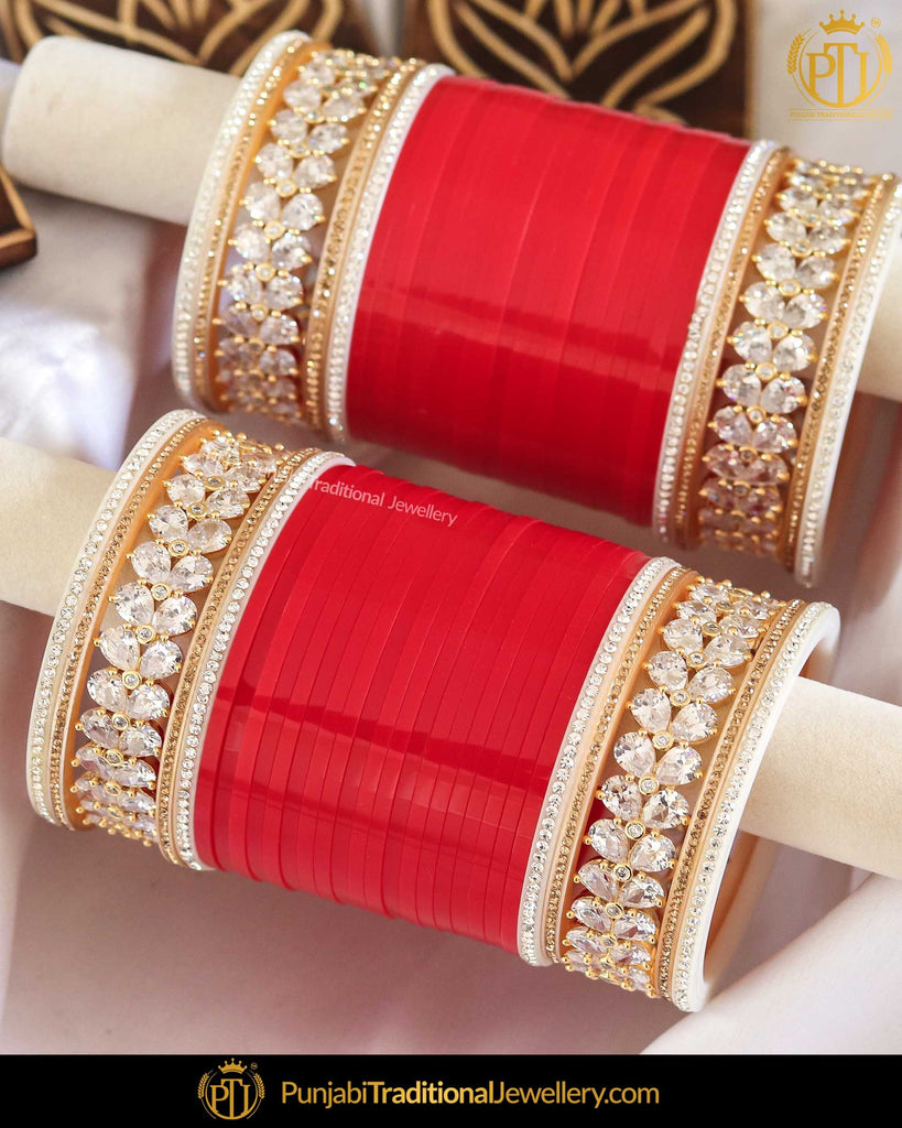 AD Stone Pearl Bridal Chura | Punjabi Traditional Jewellery Exclusive