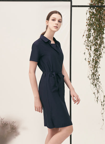 KODZ - Casual Shirt Midi Dress