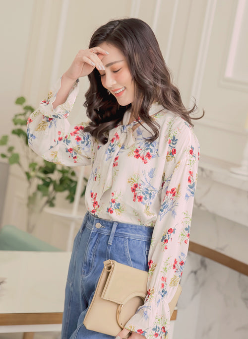YOCO - Printed Floral Spring Blouse