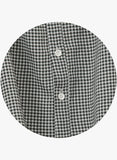 YOCO - Gingham Off-Shoulder Buttoned Blouse